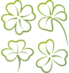with a set of clover leaves vector image