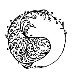 Yin yang sign sketch for your design vector image