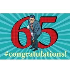 Congratulations 65 anniversary event celebration vector