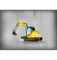 Construction grey texture excavator vector