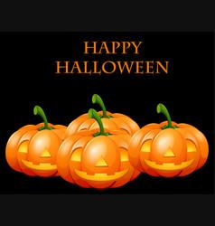 Happy halloween card with jack o lanterns vector