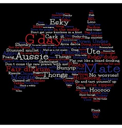Australia map made from Australian slang words in vector image