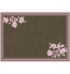 floral ornaments and frame vector image