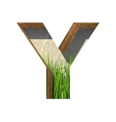Grass cutted figure y paste to any background vector