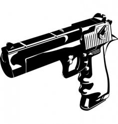 glitch gun vector image
