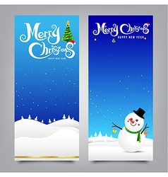 028 merry christmas banner collection of greeting vector