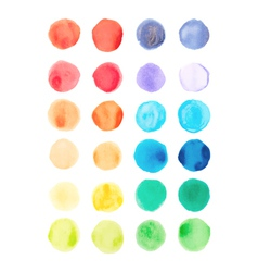 Watercolor paints palette vector