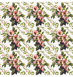 Wild roses floral bouquet pattern vector