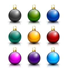 Various christmas balls vector