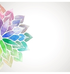 Rainbow watercolor painted flower on white vector