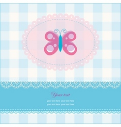 Greeting card with copy space and butterfly vector