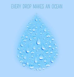 Water drop concept background poster vector