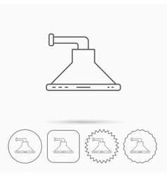 Kitchen hood icon kitchenware equipment sign vector