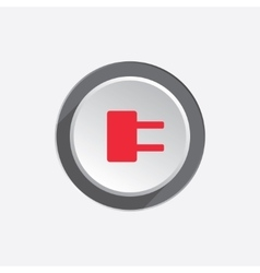 Electric plug sign Power energy symbol Red sign vector image