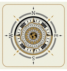 Nautical vintage compass 04 vector