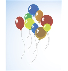 background with multicolored balloons vector image vector image