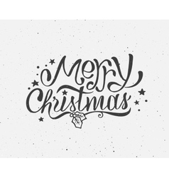 Black and white vintage poster for Christmas vector image vector image