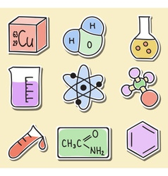 chemistry icons - stickers vector image