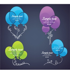 Collection of colorful balloon for your tex vector