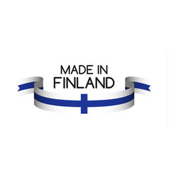 Colored ribbon with the finnish colors vector