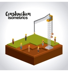 Construction isometrics design vector