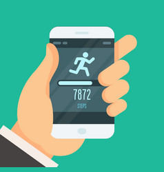Fitness tracker app - step counter to lose weight vector