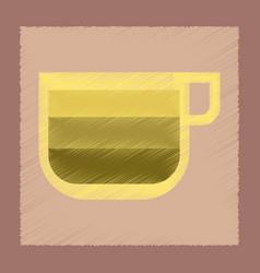 Flat shading style icon cup coffee latte macchiato vector