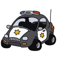 Funny police car vector image vector image