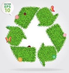 Grass recycle symbol vector image vector image