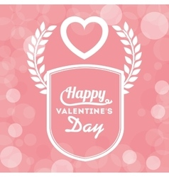 happy valentines day design vector image vector image