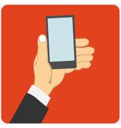 Holding smart phon vector