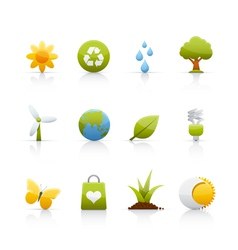 icon set ecology vector image vector image