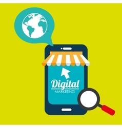 Marketing digital smartphone store vector