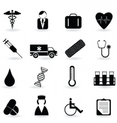 Medical and health icons vector