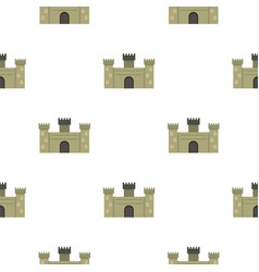 Old fortress towers pattern seamless vector