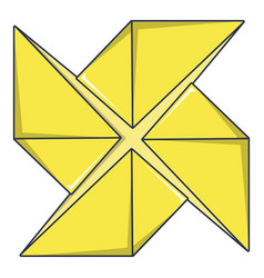 origami shuriken icon cartoon style vector image vector image