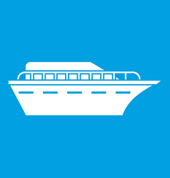 Powerboat icon white vector