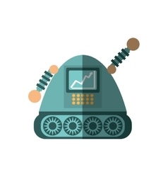 robot android automation icon shadow vector image