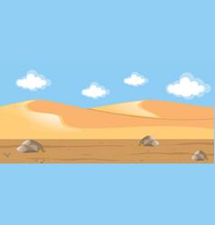 Scene with desert and hills vector