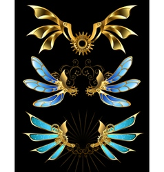 Set of Mechanical Wings vector image vector image