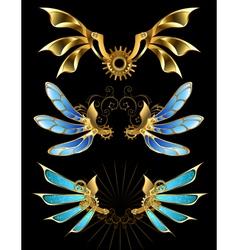Set of Mechanical Wings vector image