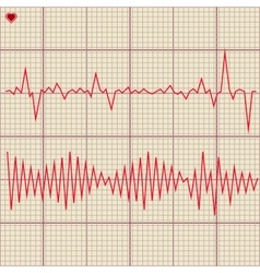 Set of various cardiogram design elements vector image
