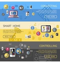 Smart home banner set vector
