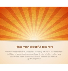 Sunny card for your business vector image vector image