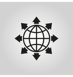 The global solution icon www and browser vector
