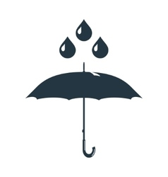 umbrella rain drops water vector image vector image