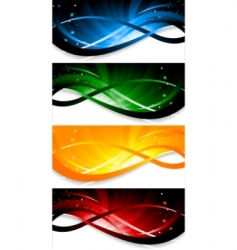 Vector set of colorful banner vector
