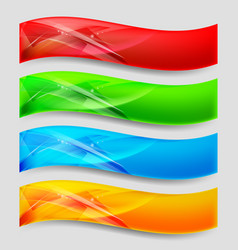 Web wave panels form an abstract background vector