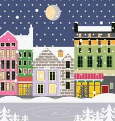 Winter street vector