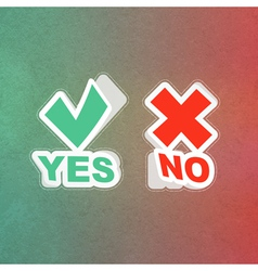 Yes and No icon vector image vector image